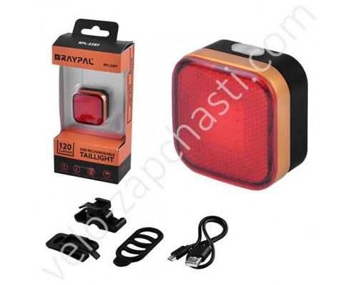 Задний велосипедный фонарь Raypal RPL-2287-COB, USB, Waterproof
