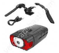 Велосипедная фара с датчиком света HJ-050 аккумулятор USB