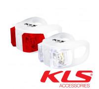 Набор велосипедных фар KLS Twins белый