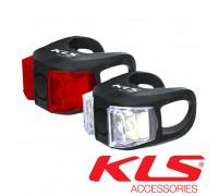 Набор велосипедных фар KLS Twins черный