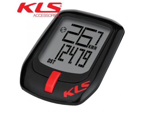 Велокомпьютер проводной KLS DIRECT чёрно-красный