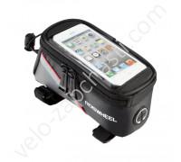 """Велосумка на раму под смартфон Roswheel 5.5"""" RED"""