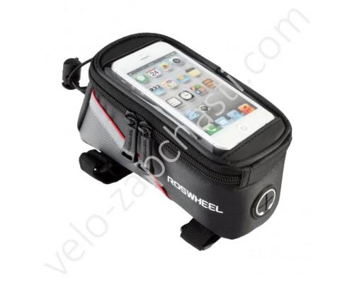 """Велосумка на раму под смартфон Roswheel 6.5"""" RED"""