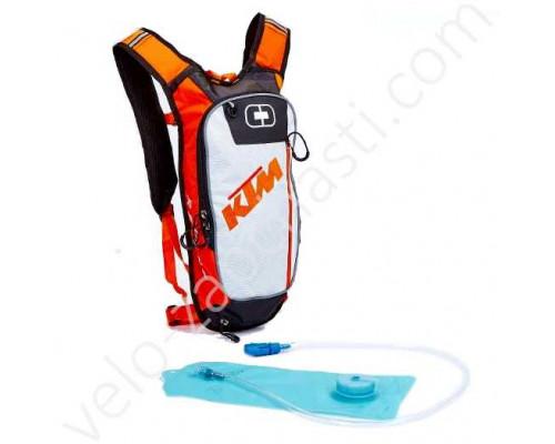 Рюкзак велосипедный с питьевой системой KTM белый