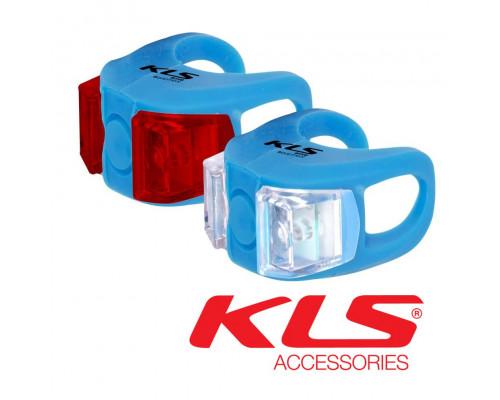 Набор велосипедных фар KLS Twins синий