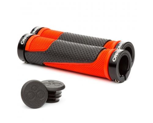Грипсы ONRIDE DualGrip с замками черно-красные