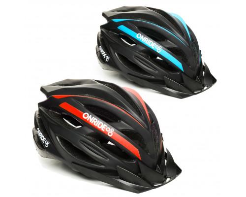 Шлем велосипедный ONRIDE Grip матовый (синий, красный)