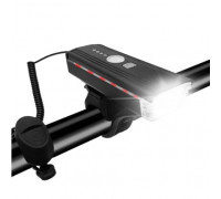 Велофара + сигнал HJ-062-XPE ULTRA LIGHT